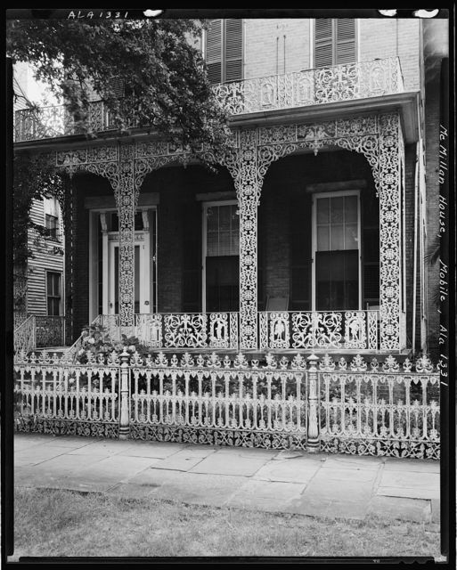 McMillan House, 256 Joachim St., Ironwork, Mobile, Mobile County, Alabama