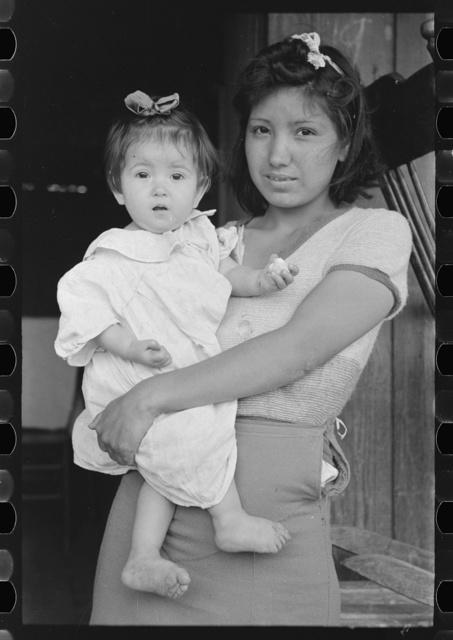 Mexican baby with sister, San Antonio, Texas