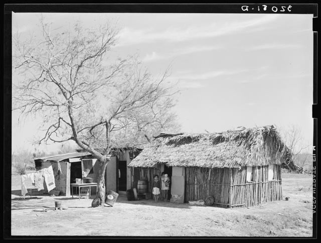 Mexican day laborer's hut near Santa Maria, Texas