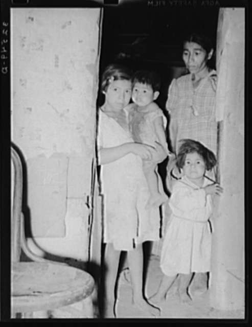 Mexican mother and children. San Antonio, Texas