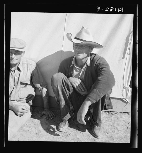 Migrant worker in camp. California