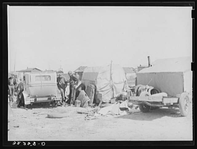 Migrant workers' camp. Shantytown, Corpus Christi, Texas
