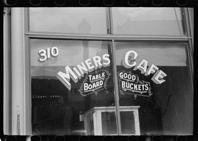 Miners' cafe, Butte, Montana