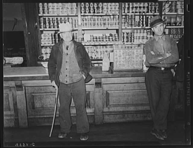 Miners in company store. Kempton, West Virginia