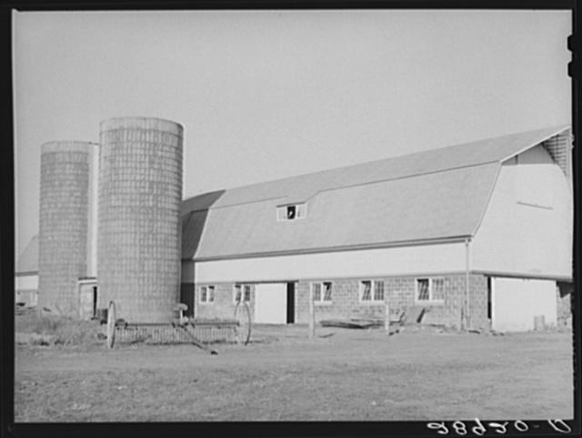 Modern dairy farm at the Bois d'Arc cooperative makes possible efficient milk production. Osage Farms, Missouri
