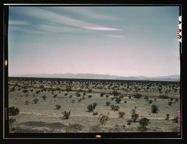 Mojave Desert country, crossed by Santa Fe R.R., Cadiz, Calif.