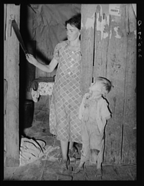 Mother and son, tenant farmers. Hill section of McIntosh County, Oklahoma