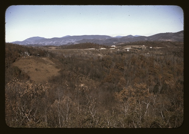 Mountain farms along the Skyline Drive, Va.