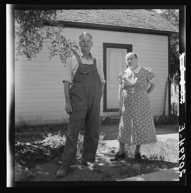Mr. and Mrs. Chris Ament, dry land wheat farmers who survived in the Columbia Basin. Washington, Grant County, three miles south of Quincy. See general caption number 35