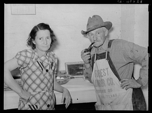 Mr. and Mrs. Ernest Milton, pioneers at El Indio, Texas