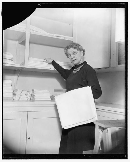 Mrs. Henrietta Nesbitt, White House (housekeeper), Feb. 1939
