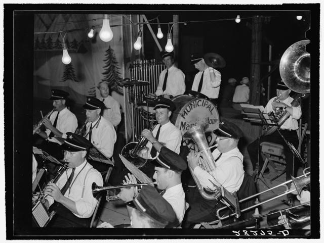 Municipal band at the Central Iowa Fair. Marshalltown, Iowa