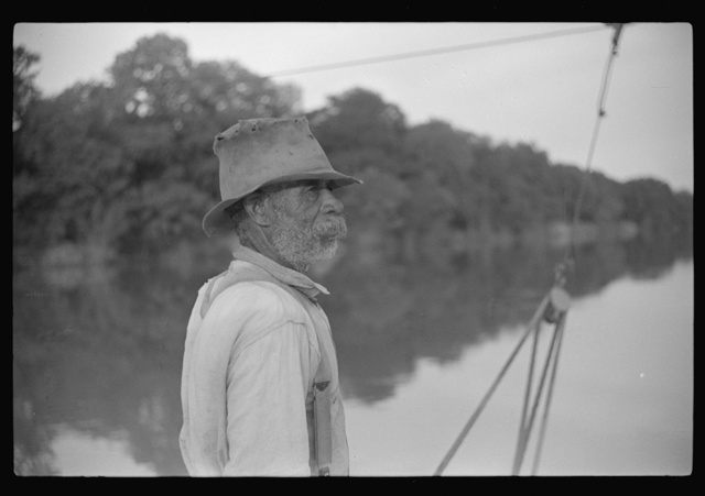 Negro almost eighty, who has been running ferry across river from Camden to Gee's Bend for almost forty-eight years. Gees Bend, Alabama
