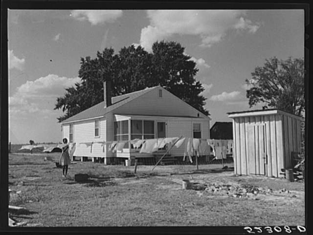 New home of Cube Walker, Negro tenant purchase client. Belzoni, Mississippi Delta, Mississippi