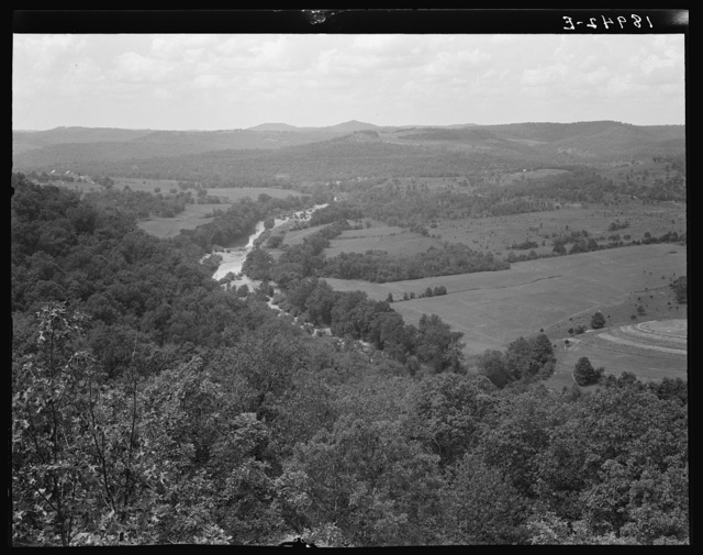 North Central Arkansas. Ozark Mountains seen from U.S. 62