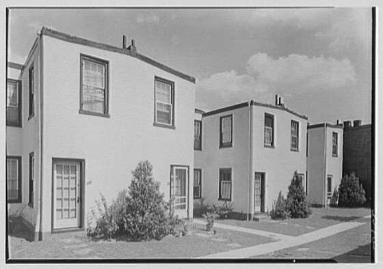 North Fortieth Street housing group, Philadelphia, Pennsylvania. Exterior detail V