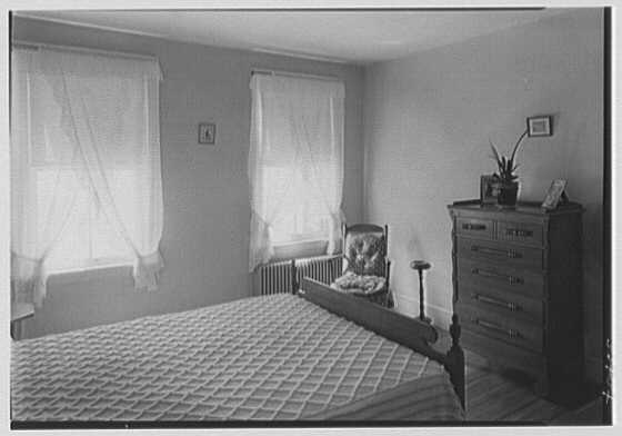 North Fortieth Street housing group, Philadelphia, Pennsylvania. Typical bedroom
