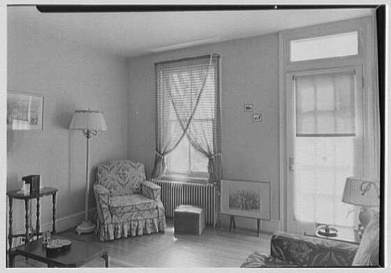 North Fortieth Street housing group, Philadelphia, Pennsylvania. Typical living room