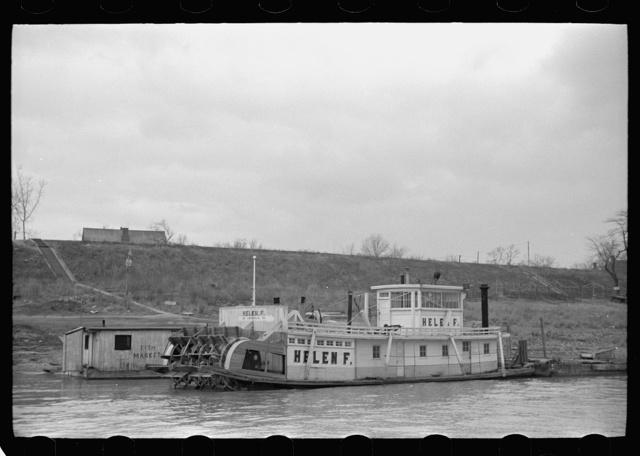 Ohio River steamboat, Shawneetown, Illinois