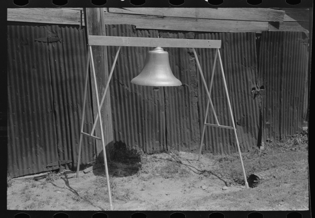 Old fire bell, Carthage, Texas
