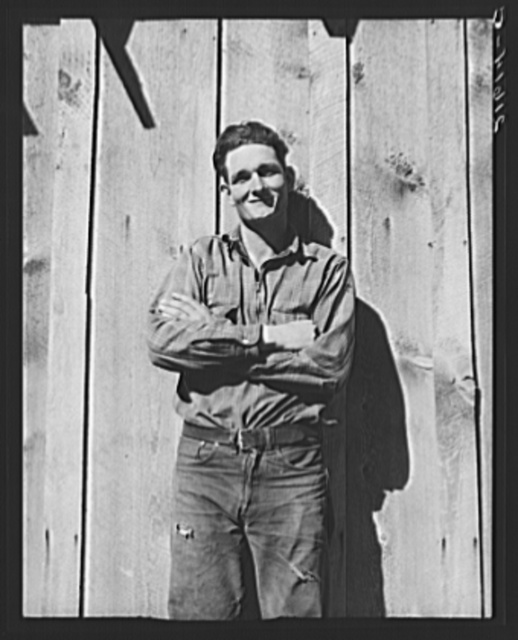 One of the thirty-six members of the Ola self-help sawmill co-op. Gem County, Idaho. General caption 48