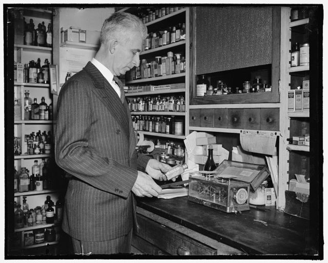 Only Druggist in Congress. Washington, D.C., Feb. 13. While many professions and businesses are represented in the 76th Congress, Rep. Carl T. Durham, democrat of North Carolina, is the only pharmacist in that august body. He ran a drug store at Chapel Hill before his election to the house, 2-13-39