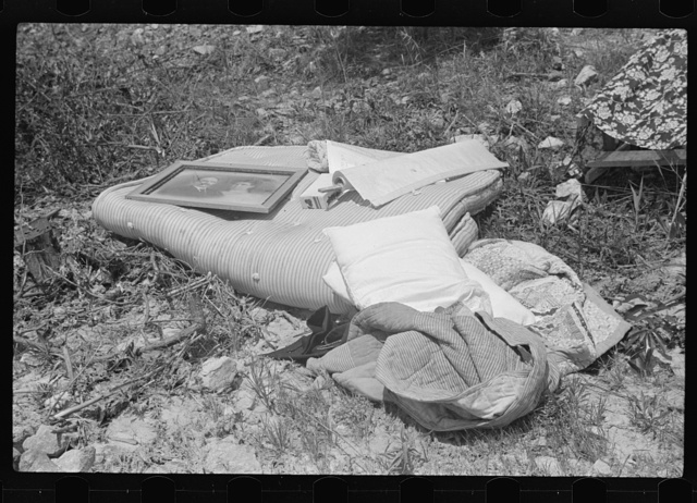 Part of household goods of day laborer whose house was burned. South Georgia, Atlanta