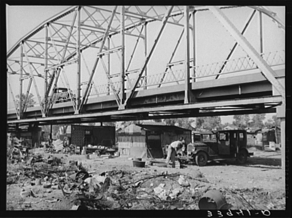 Part of Mays Avenue camp under the bridge. Oklahoma City, Oklahoma