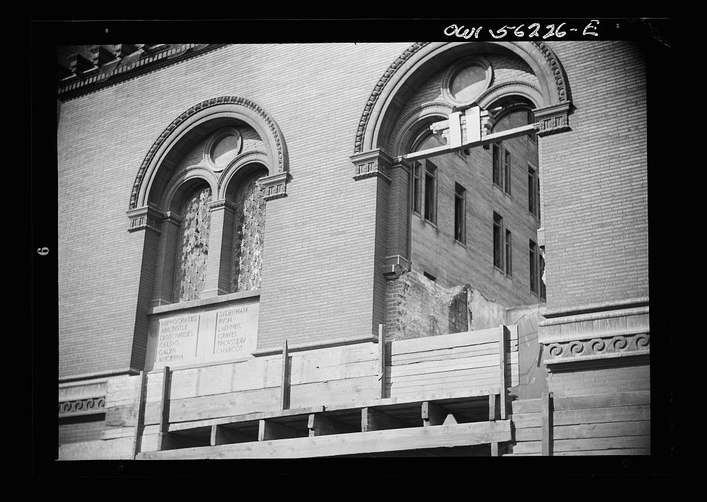 Philadelphia, Pennsylvania. Buildings on Race Street being demolished