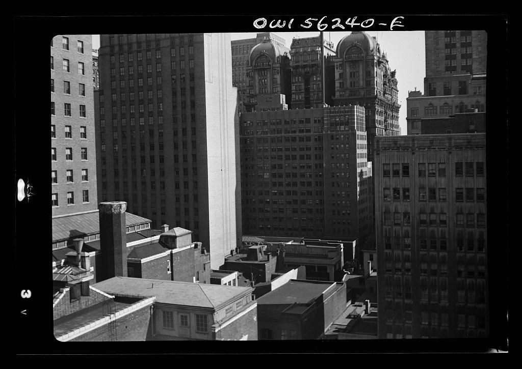 Philadelphia, Pennsylvania. Downtown buildings near Walnut and Broad Streets, looking east