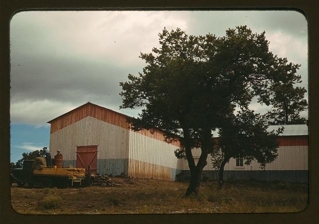 Pinto bean warehouse, Pie Town, New Mexico