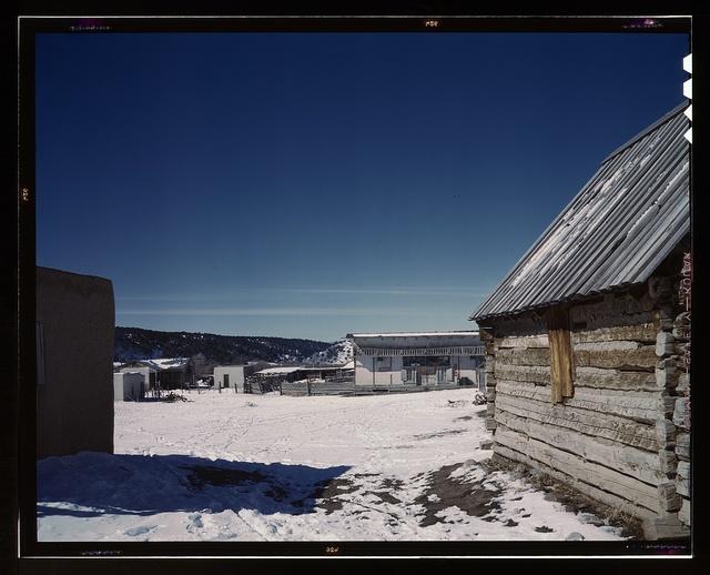 Plaza of Trampas, Taos Co., N[ew] Mex[ico]