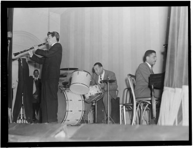 [Portrait of Joe Marsala, Zutty Singleton, and Teddy Wilson, National Press Club, Washington, D.C., ca. 1939]