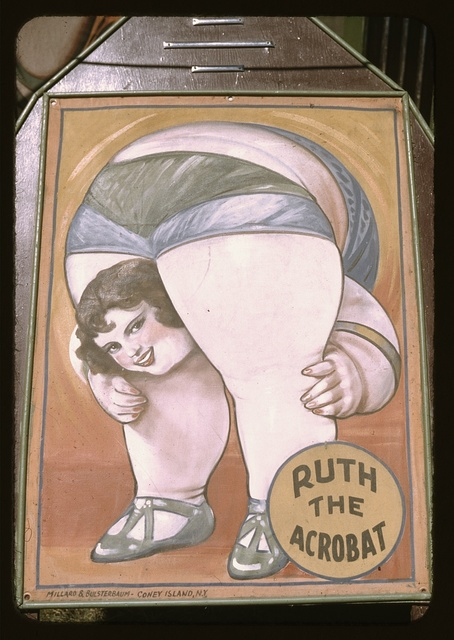 Poster for a side show at the Vermont state fair, Rutland
