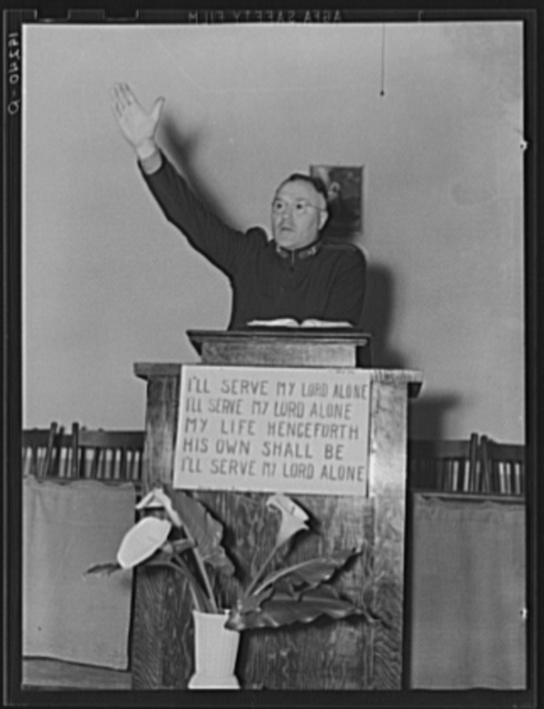 Preaching Salvation. Salvation Army, San Francisco, California