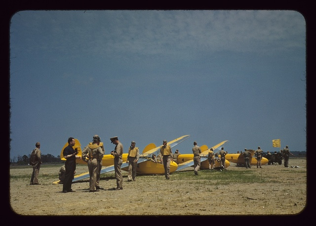 Preparing for take-off at the glider pilot training program, Page Field, Parris Island, S.C.