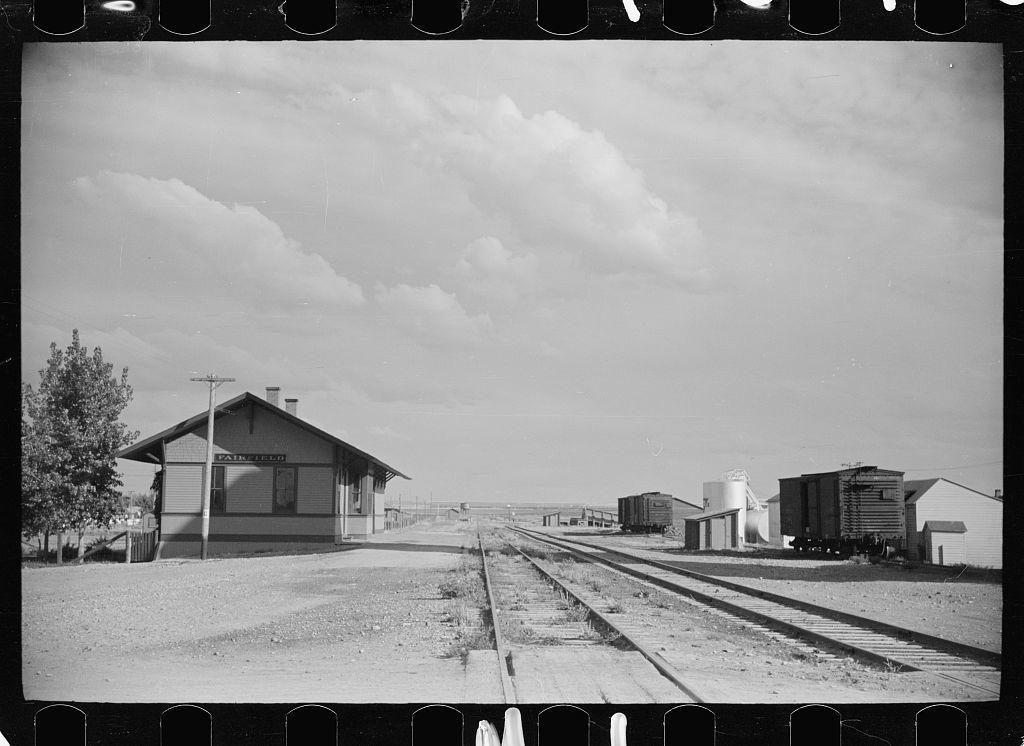 Railroad station, Fairfield, Montana