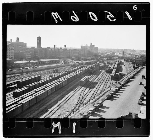 Railroad yards, wholesale district, Minneapolis, Minnesota
