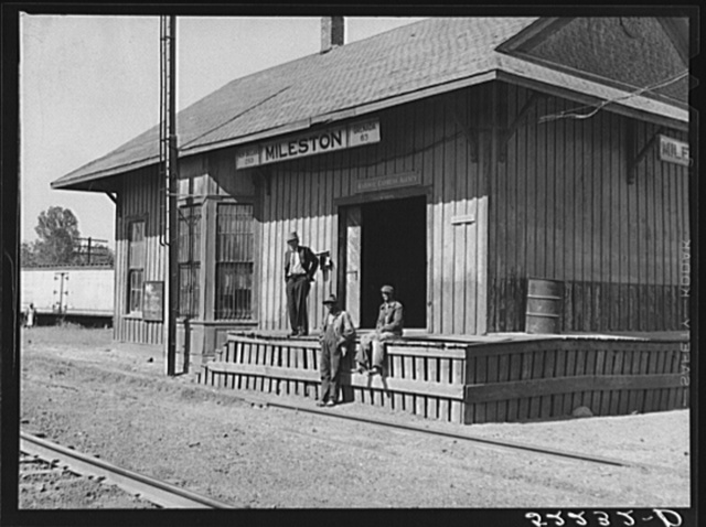 Railway station, Mileston, Mississippi Delta, Mississippi