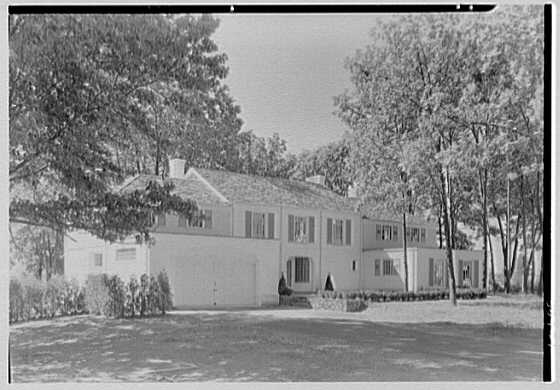 Ralph J. Cordiner, residence on White Oak Rd., Fairfield, Connecticut. Entrance facade