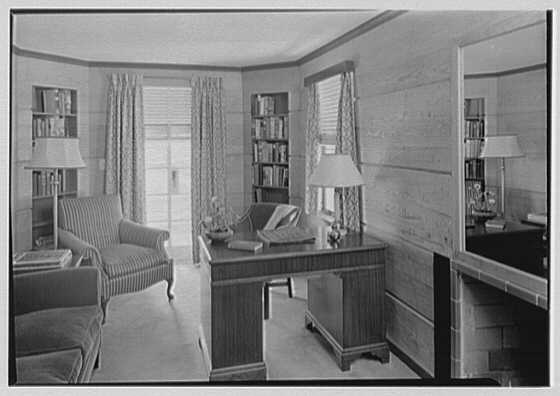 Ralph J. Cordiner, residence on White Oak Rd., Fairfield, Connecticut. Study