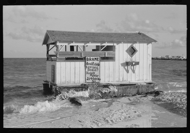 Real estate office on North Beach, tourist section, Corpus Christi, Texas
