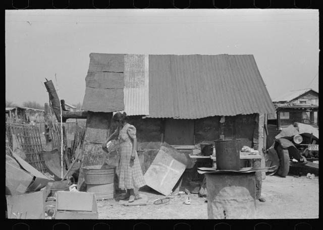 Rear view of Mexican house, San Antonio, Texas