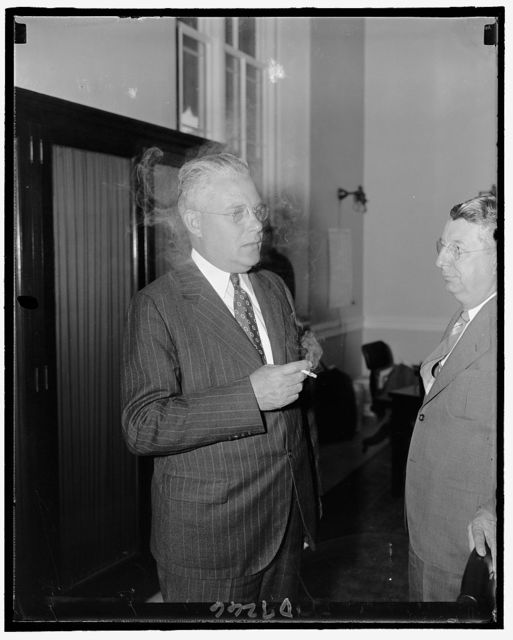 Rep. Arthur D. Healey of Mass., member of the Committee investigating the Nat'l Labor Relations Board, Sept. 1939