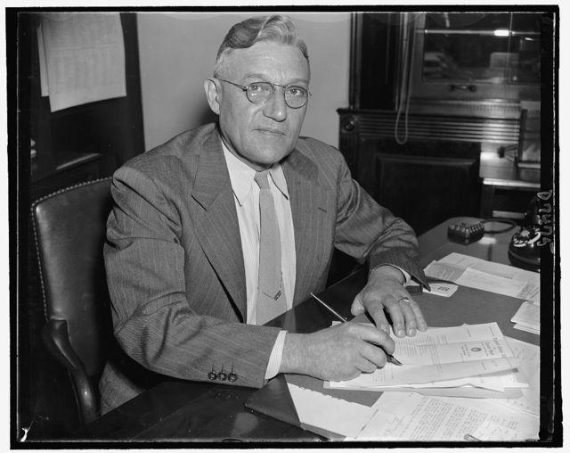 Rep. Bernard J. Gehrmann, Progressive of Wisc., Oct. 1939
