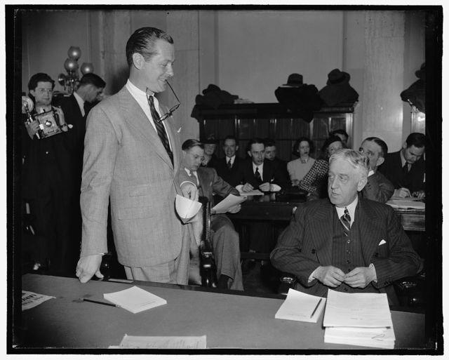Robert Montgomery & Sen. White, Maine, 4/3/39