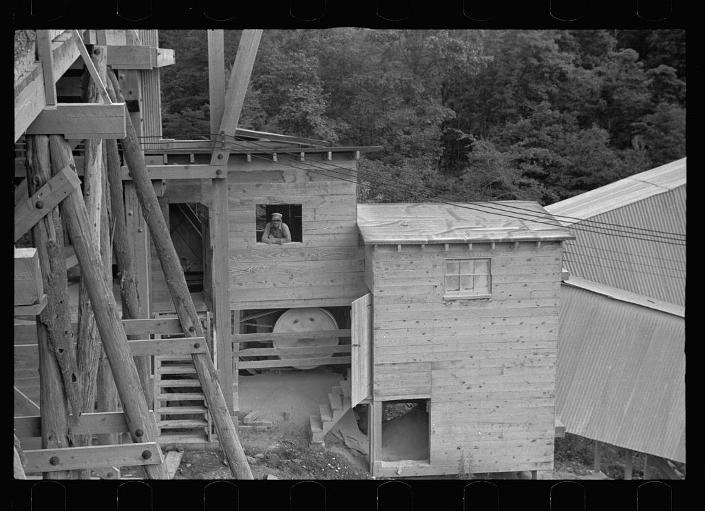 Rock crusher at limestone quarry  Tygart Valley Homesteads