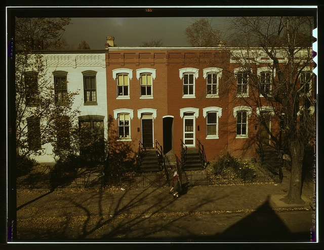 [Row houses, corner of N and Union Streets S.W., Washington, D.C.]