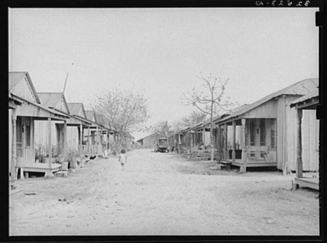 Row of houses. Mexican quarter, San Antonio, Texas