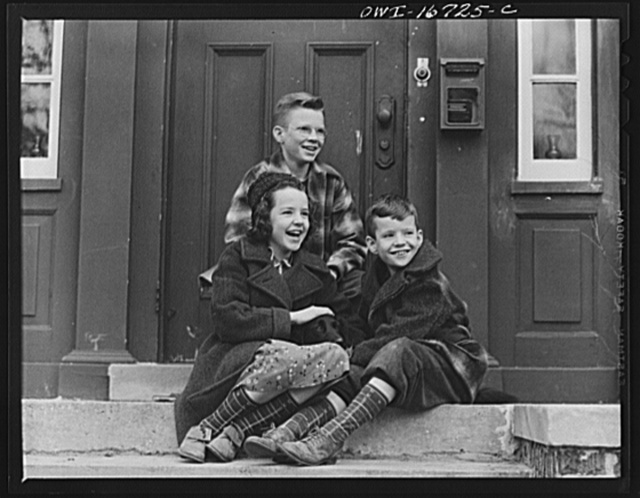 Royal Oak, Michigan. Children in the neighborhood of Father Coughlin's Shrine of the Little Flower